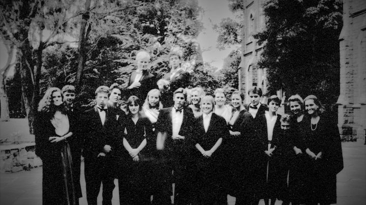 Group of Ormond students in 1980s