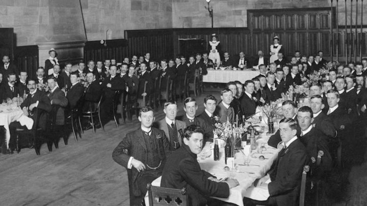 Dining Hall with maids